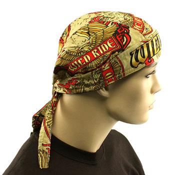 Wild Ride Eagle Biker Doorag Bandana Headwrap Headscarf