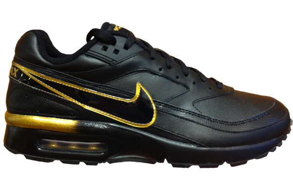 Mens-Nike-Air-Max-BW-Black-Met-Gold-UK-10-12-Style-309210-032-RRP-100