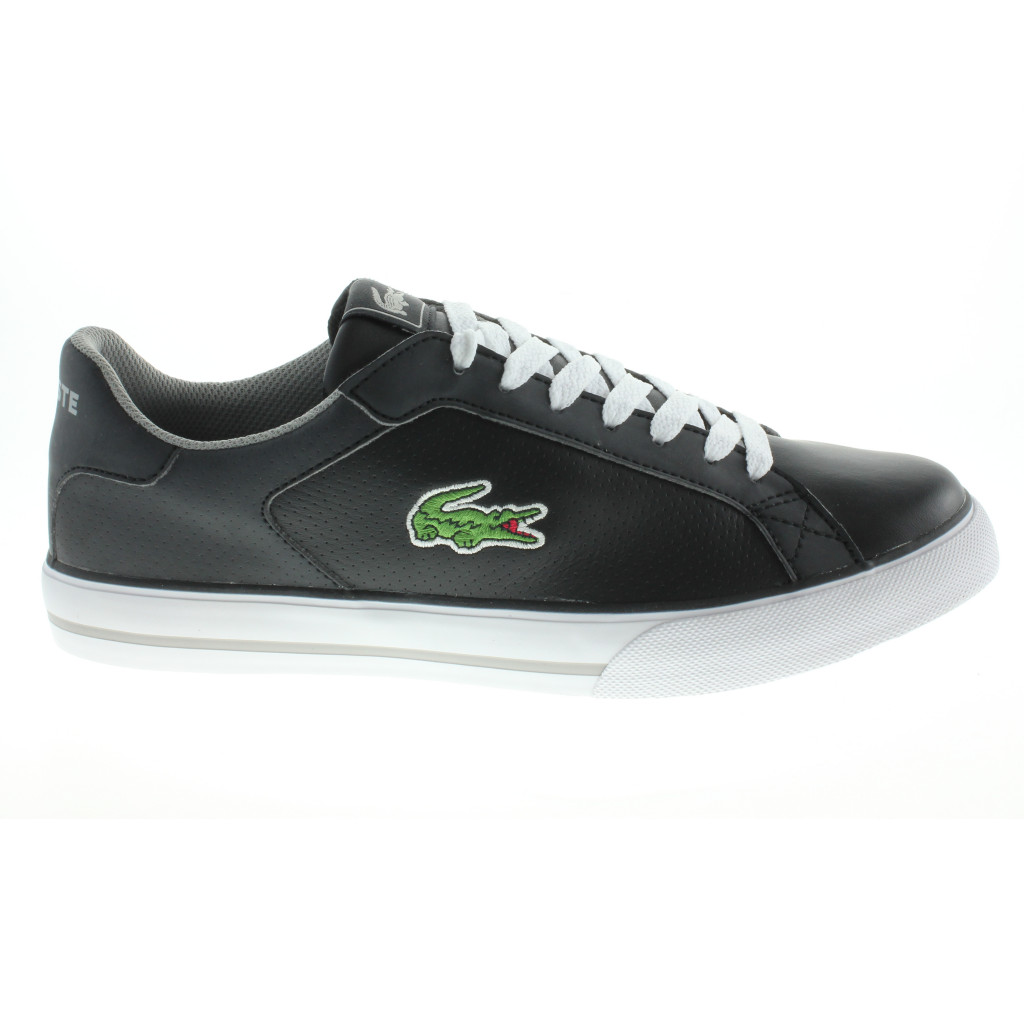 lacoste mens marling 2 uk size 7 5 10 black shoes trainers