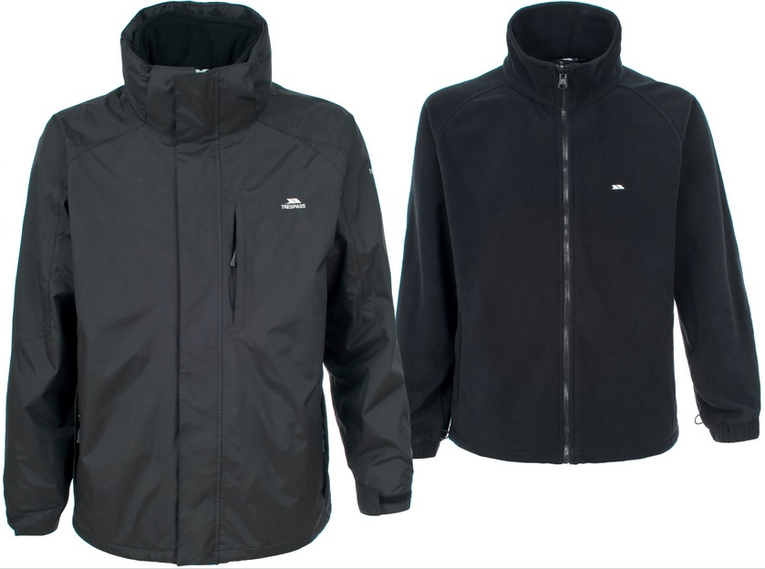 TRESPASS-MAKER-MENS-3-IN-1-JACKET-BLACK-Style-No-TP75-NEW-UK-S-TO-XXL