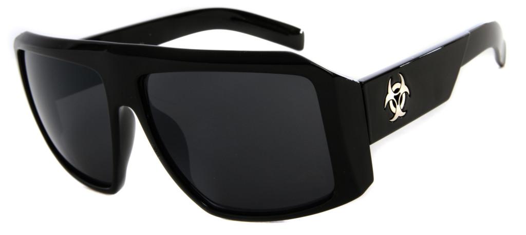 designer sunglasses mens  Biohazard Goggle Style Mens Designer Sunglasses Dark / Mirror Lens ...