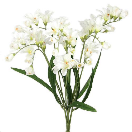About 21 LIFE LIKE FREESIA WEDDING SILK FLOWERS SPRAY CREAM 073