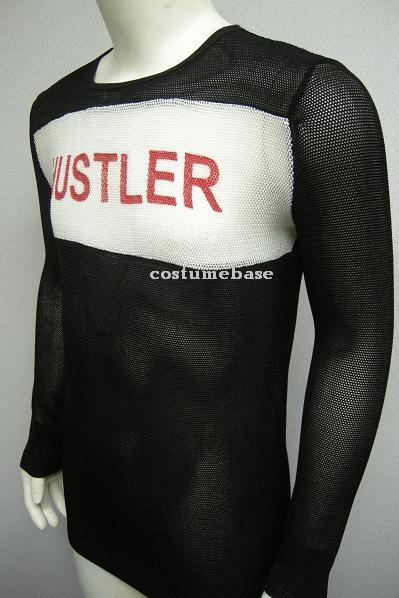 Tyler Durden Hustler Mesh Shirt Fight Club Movie Costume Brad Pitt Long Sleeve