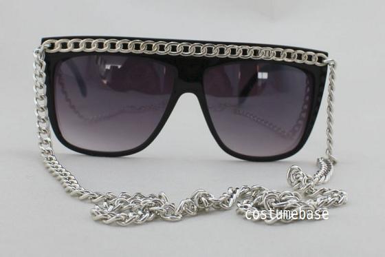 SNOOKI-BLACK-GOLD-TONE-OR-SILVER-CHAIN-Sunglasses-Lady-Glasses-JERSEY-SHORE-New