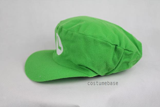 2PCS Luigi Super Mario Bros Adult Kids Hat Cap Costume M L (Flat Top