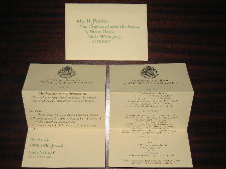 Hogwarts Acceptance Letter Prop   Ebay