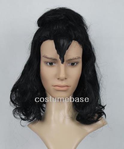 Mens Black Gene Simmons Kiss Wig Curl Halloween Jr004 Ebay