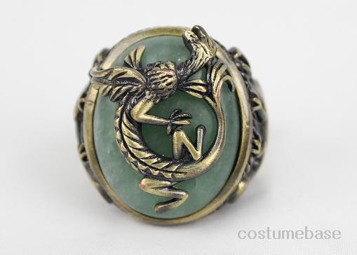 QUALITY-JACK-SPARROW-DRAGON-RING-PIRATES-THE-CARIBBEAN