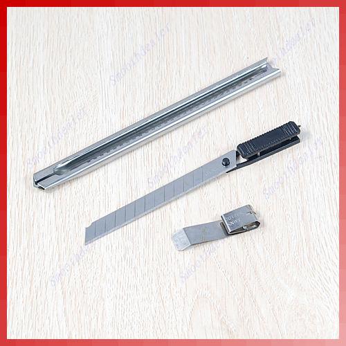 how to break off pen knife blade