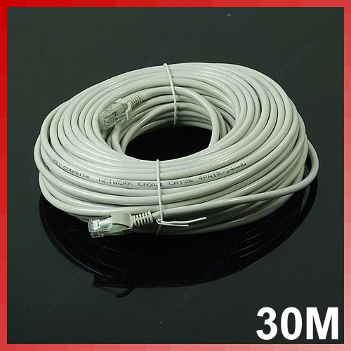 30m 100 ft rj45 cat5 cat5e ethernet internet lan network cord cable ebay. Black Bedroom Furniture Sets. Home Design Ideas