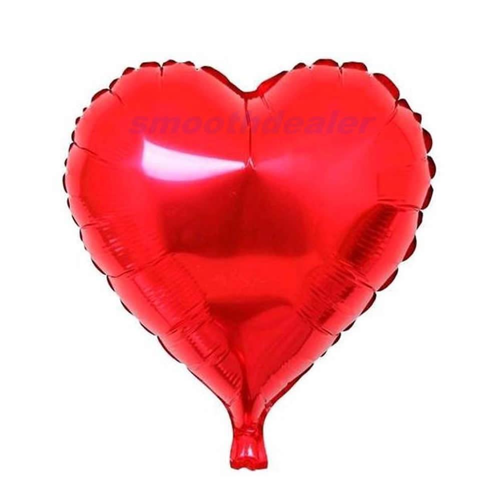 24inch aluminum foil balloons metallic heart shape balloon - How to make heart balloon ...
