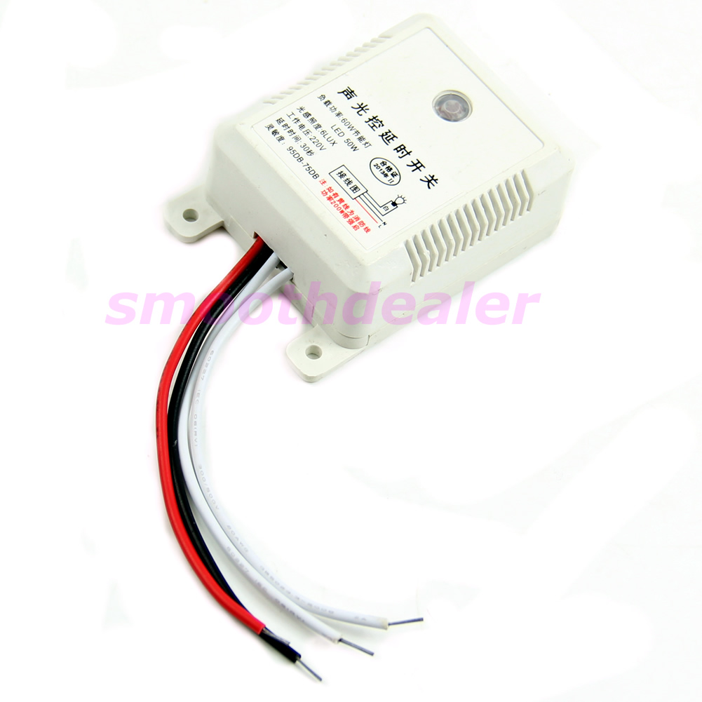 Ein-Aus-Licht-Ton-Sprach-Sensor-Switch-Time-Delay-AC-160-250V