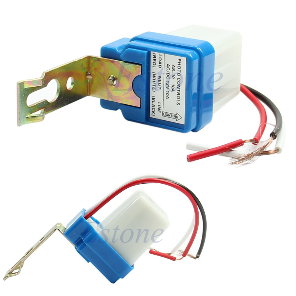 Ac Dc 10a Photoswitch Photocell Street Light Lamp Auto On Manual Guide