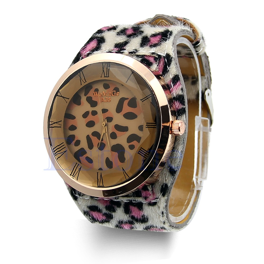 Alloy Case Ladies Wrist Gift Fashion Classic Geneva Leopard Print Quartz Watch