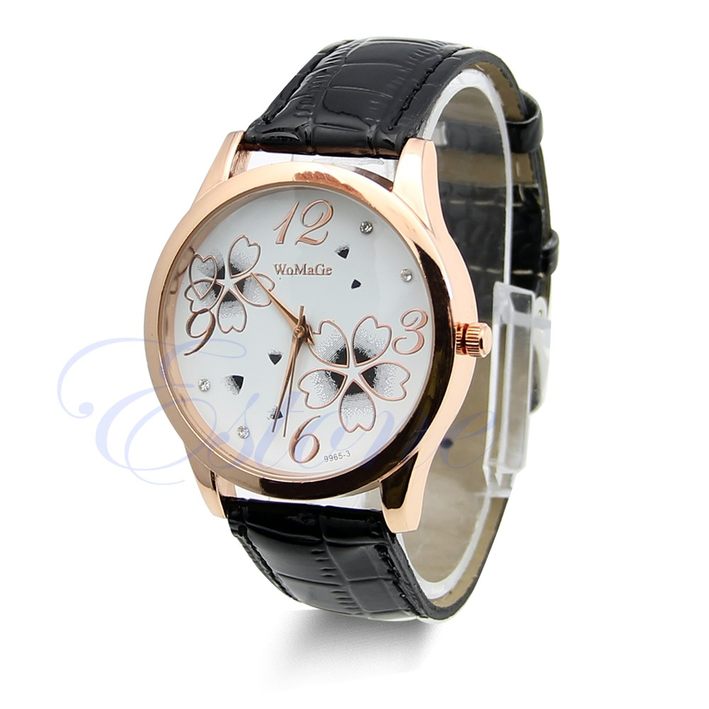 Stainless-Steel-Quartz-Sport-Fashion-Elegant-Leather-Ladies-Mens-Wrist-Watch