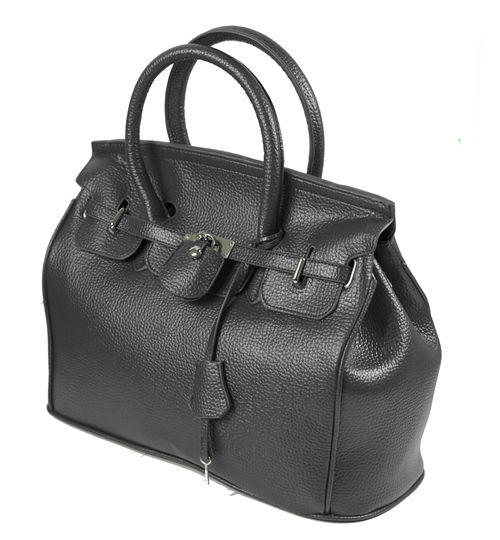 Elegant-Style-Women-Lady-Celebrity-PU-Leather-Tote-Handbag-Lock-Shoulder-bag thumbnail 2