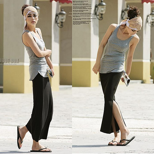 Split Side Maxi Skirt