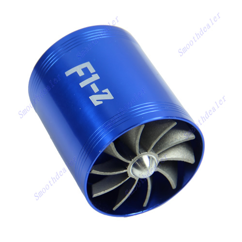 Universal-F1-Z-Double-Supercharger-Turbine-Turb-Air-Intake-Fuel-Gas-Saver-Fan-BL
