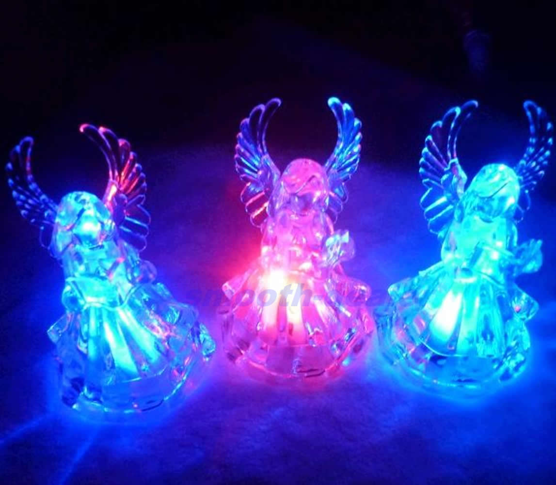 new 7 color changing angel led light night lamp christmas decoration kids gift ebay. Black Bedroom Furniture Sets. Home Design Ideas