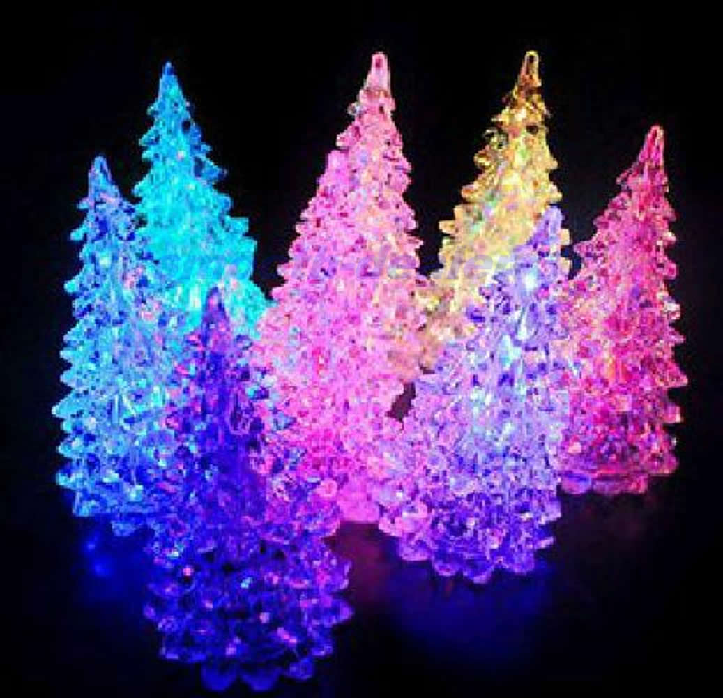 color changing colorful christmas tree led light night