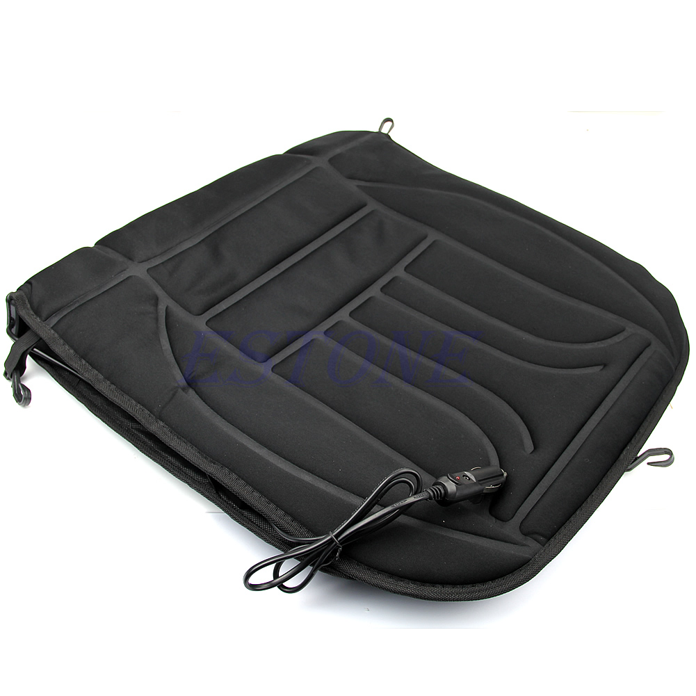 car heated seat cushion hot cover auto 12v heat heating warmer pad winter black ebay. Black Bedroom Furniture Sets. Home Design Ideas