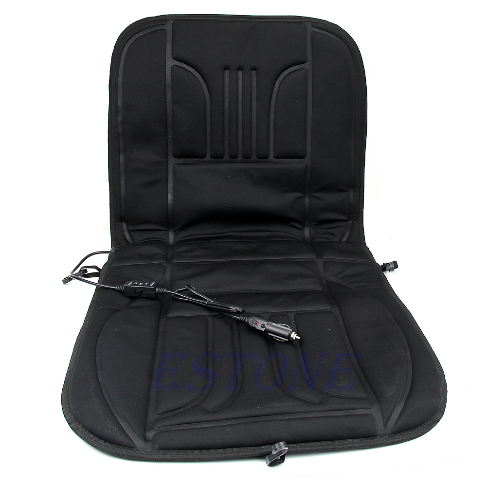 car heated seat cushion hot cover auto 12v heat heating warmer pad winter black ebay