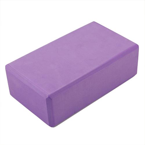 Hot purple yoga block foaming foam block home exercise for Foam block homes