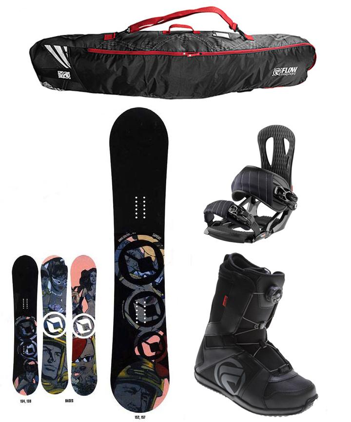 Sapient COULTER 157cm Snowboard+Bindings+FLOW BOA Boots+FLOW BAG  NEW