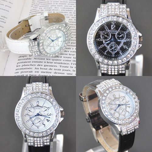 TOP-New-Womens-Crystal-Analog-Quartz-Ladies-Wrist-Leather-Band-Gift-Watch-S11T