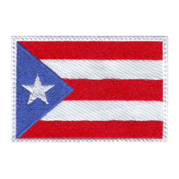 Puerto Rico Flag Embroidered Sew on Patch