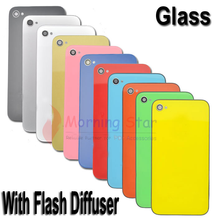 Glass-Flash-Diffuser-Back-Cover-Housing-Case-Tools-For-iPhone-4s-11-Colors