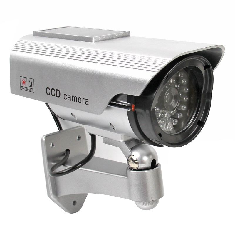 Patio Lights With Cameras: Fake Dummy Solar Power Outdoor Security CCTV Surveillance