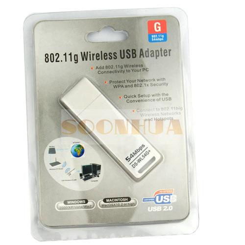 54Mbps Mini USB WiFi Wireless LAN 802 11g Card Adapter DS WL54G