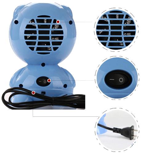 Portable Space Winter Desk Electric Heating Warm Air Fan