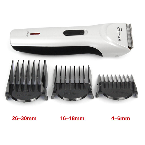 electric rechargeable low noise hair beard trimmer clipper. Black Bedroom Furniture Sets. Home Design Ideas