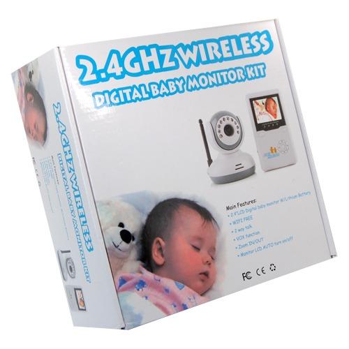 2 4 lcd 2 4ghz real time wireless digital ir baby monitor video talk vox camera ebay. Black Bedroom Furniture Sets. Home Design Ideas