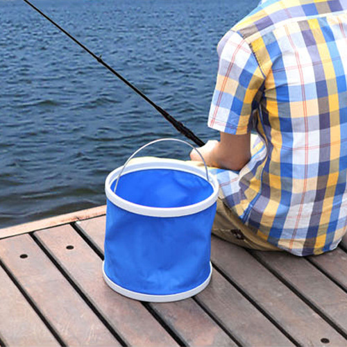 Portable 9l oxford folding foldable water pail bucket for Fish cleaning table bass pro