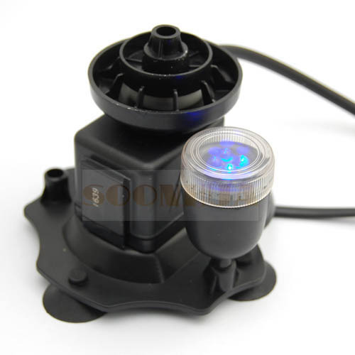 New 3w Low Noise Led Aquarium Submersible Air Water Pump Fish Tank Pond Fountain Ebay