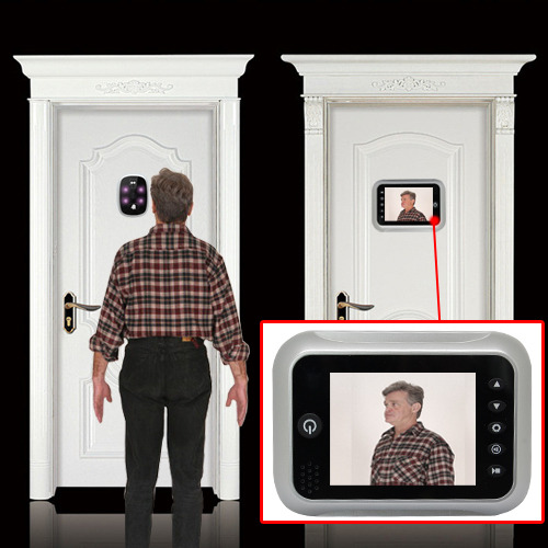 3 5 lcd hd digital doorbell peephole viewer door security for Door viewer camera