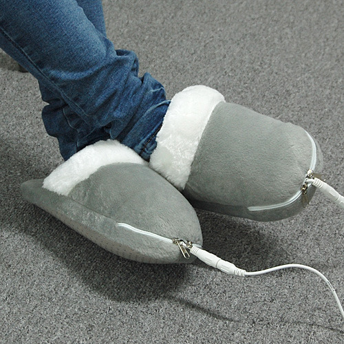 Electric Foot Warmers ~ Electric pc usb heating plush cushion slippers heated