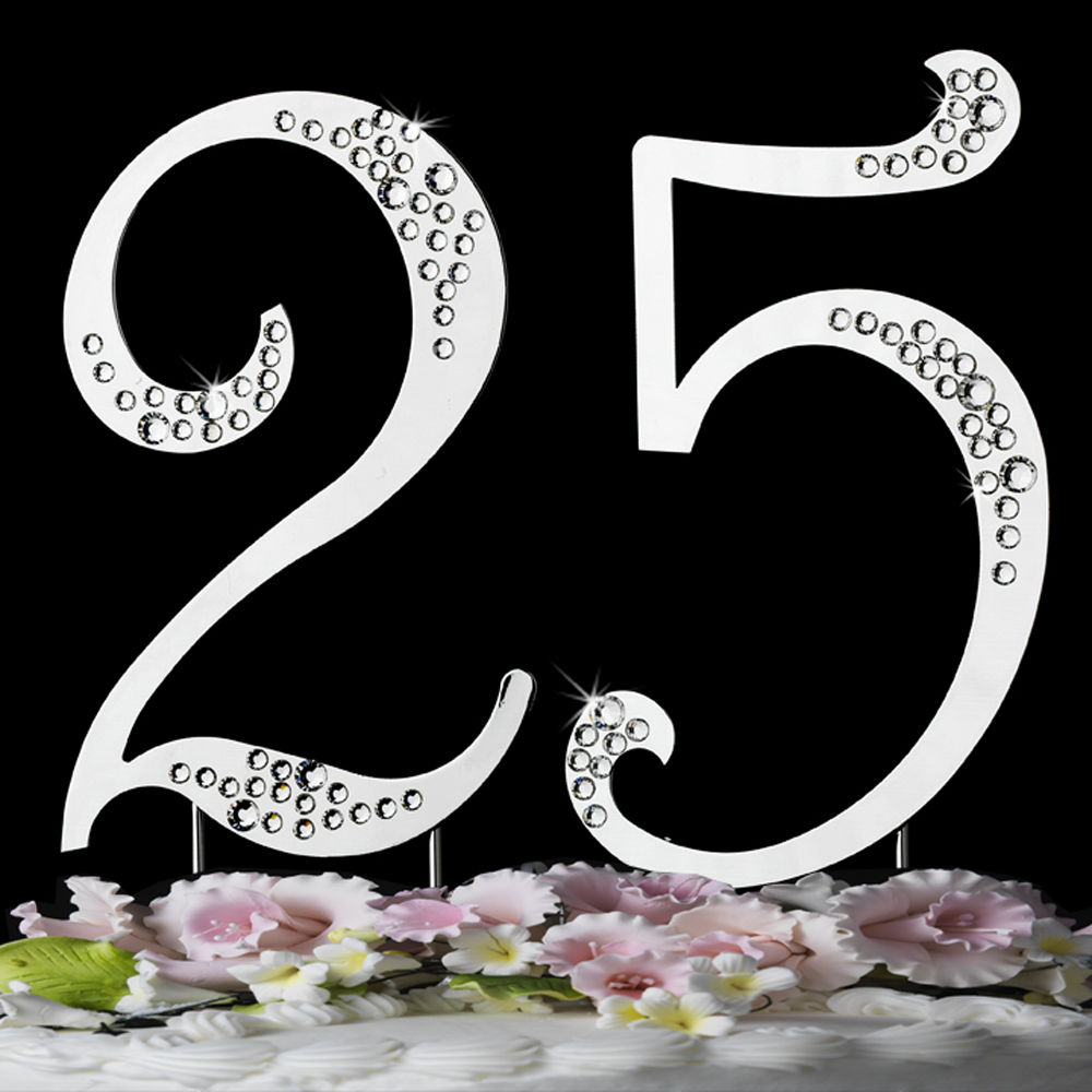 Crystal Cake Topper Numbers