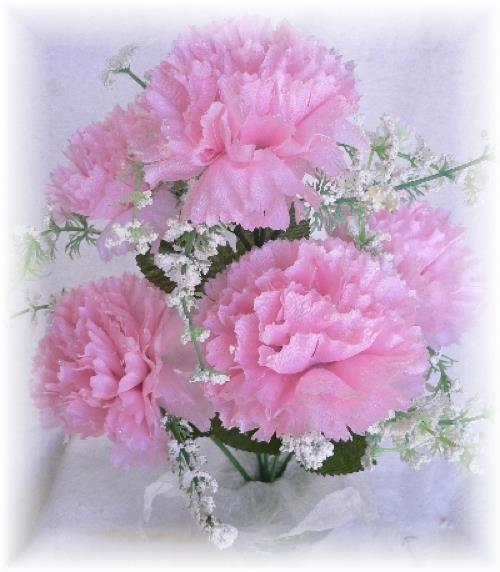 60 pink carnations wedding bridal bouquet silk flowers bush centerpiece diy ebay