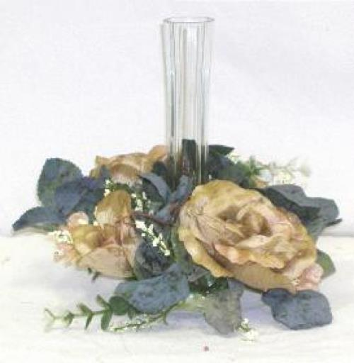Details about sage green roses candle ring silk wedding flowers