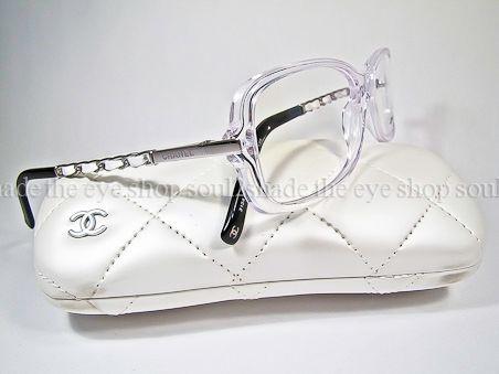 Chanel Glasses Frames Leather : CHANEL 3134-Q Eyeglasses Frame Crystal White Leather Rx eBay