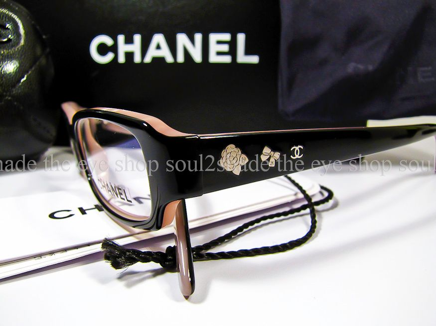 New Authentic Chanel 3145 Eyeglasses Frame Black Pink eBay