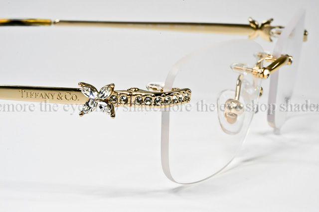 Tiffany Eyeglass Frames With Crystals : NEW TIFFANY & CO Eyeglasses Frame TF1059B Gold Rimless ...