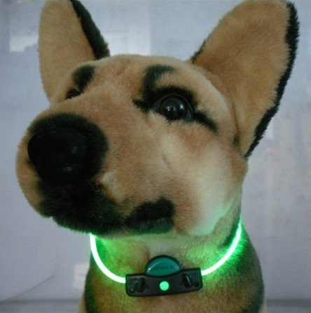 NEW-DIY-LED-Pet-Dog-Safety-Excess-fiber-Collar-Changeable-Flashing-Light
