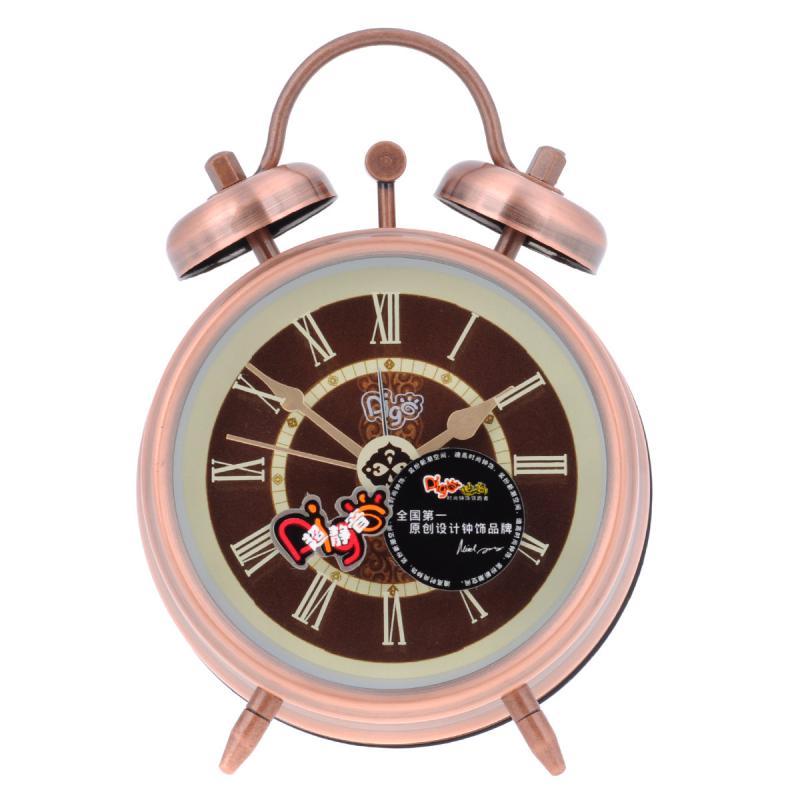metal case electronic alarm clock loud bedroom bell table
