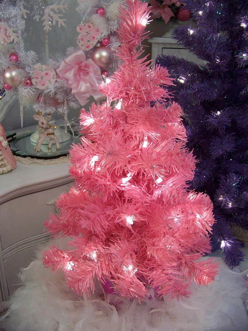 small colored christmas trees part 48 small pink christmas tree - 2 Christmas Tree