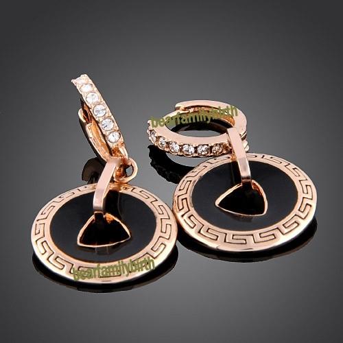 18k rose Gold swarovski crystal fashion earrings 770
